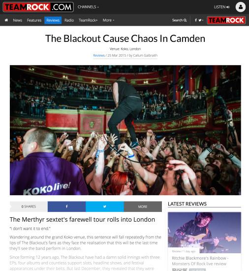 Team Rock: March 2015