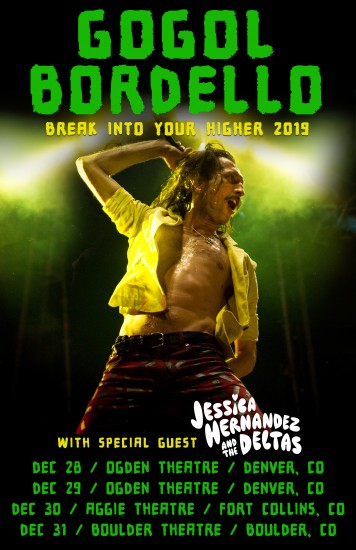 Gogol Bordello 2018 Tour Artwork