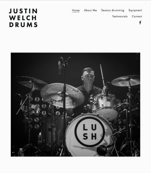 justinwelchdrums.com (Lush / Elastica)