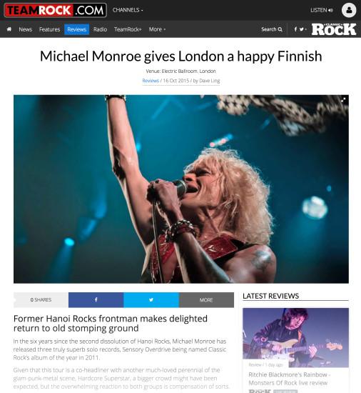 Classic Rock: October 2015